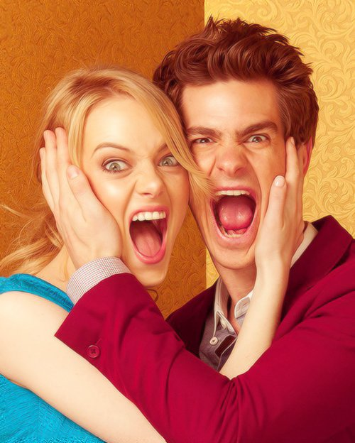Emma Stone And Andrew - Hot Girls Wallpaper