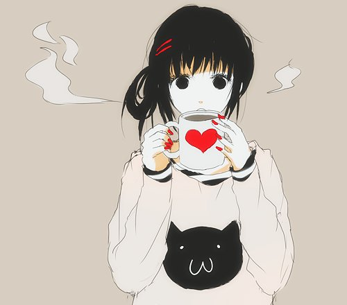 anime, anime girl, cat, girl, heart