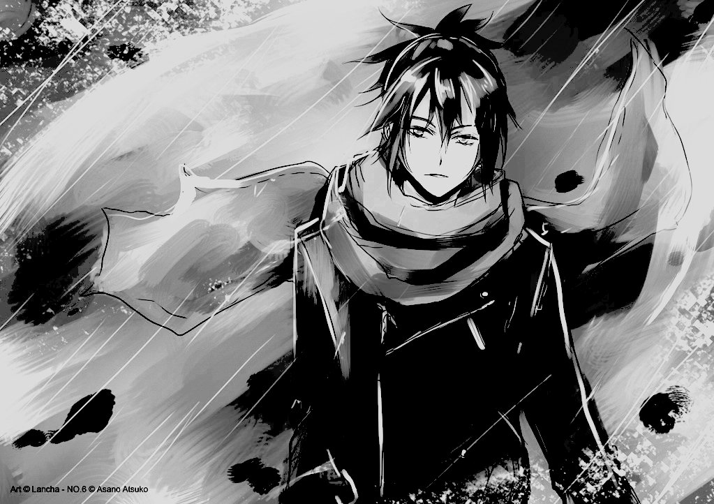 Anime, Black And White, Boy, Cool