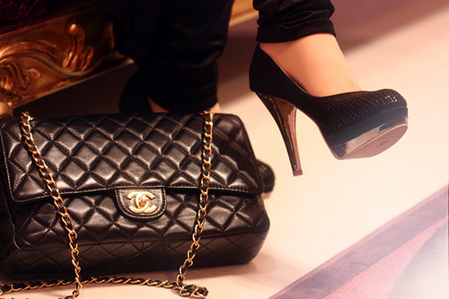 bag, black, chanel, fashion