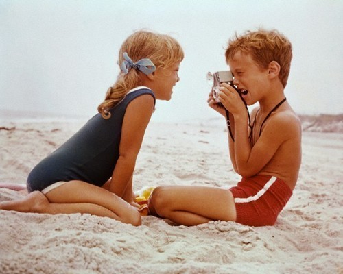 beach, blonde, boy, camera