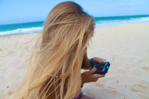 Knows blond girl on beach remarkable, rather