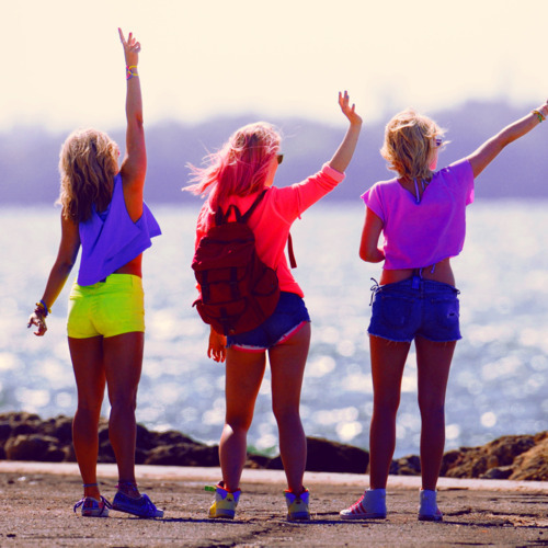 beach, bye, fashion, fluo