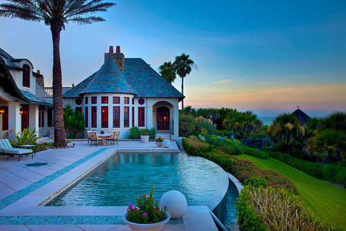 beautiful, beauty, house, palms, summer, sun, water