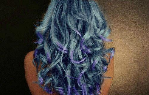 beautiful, beuty, blue, blue hair