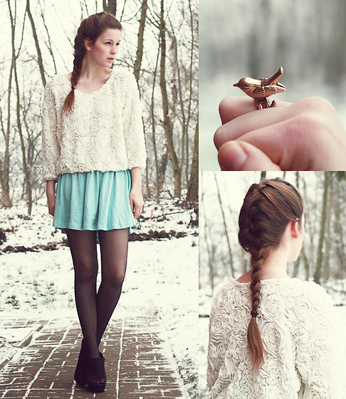 beautiful, bird, braid, cute, fashion