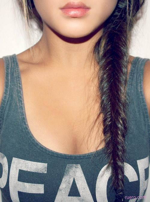beautiful, braid, brunete, brunette