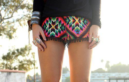 beautiful, bright, clothes, colorful, colors, fashion, girls, hair, jewelry, model, photography, rainbow, rings, short, shorts, style, summer