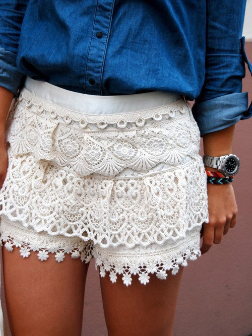 beautiful, crochet, crochet shorts, cute, fashion, fun, girl, hipster ...