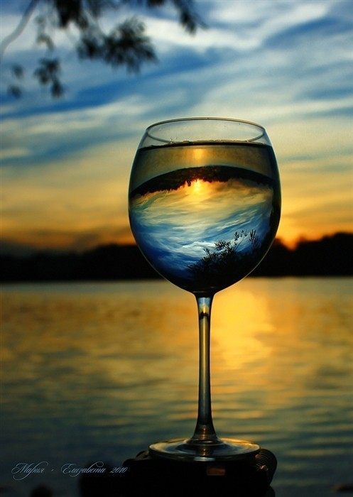 beautiful, glass, photography, sunset