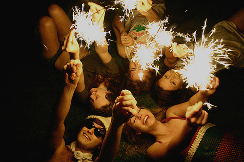 beauty, fireworks, friend, friends