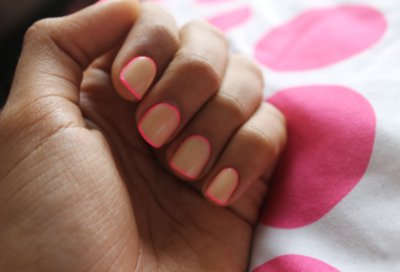 beige, fashion, howtodothis, manicure, nails, pink, twotone