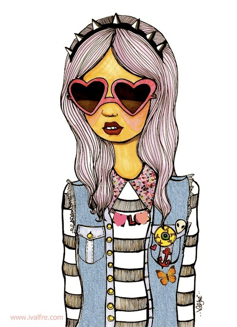 best friends, cute, drawing, fashion, friends, friendship quotes, glases, illustration, ilse valfre, quotes, style, text, valfre