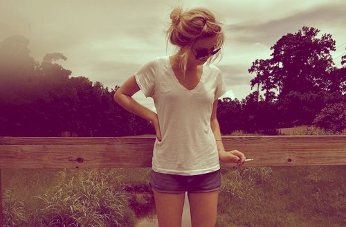 beutiful, girl, nature, short