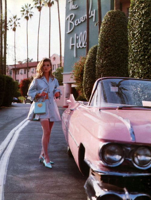 beverly hills, car, classy, girl, pink
