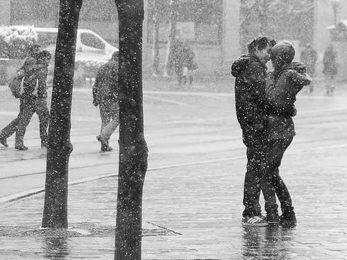 black and white, boy, couple, couple love - image #525204 ...