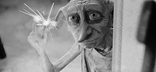 black and white, cool, dobby, harry potter