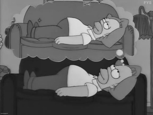 black and white, funny, homer and homer simpson