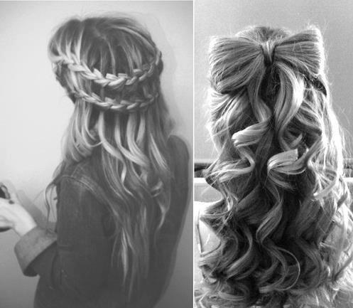 black, bow, braid, curly, hair, pretty, white