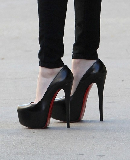 black, christian louboutin, fashion, heels