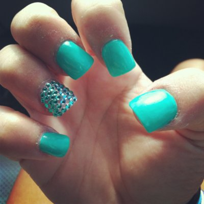 turquoise 39 acrylic nail designs Quotes
