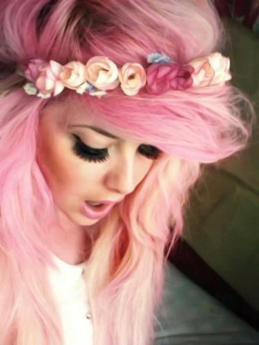blonde, flowers, girly, headband - image #528175 on Favim.com