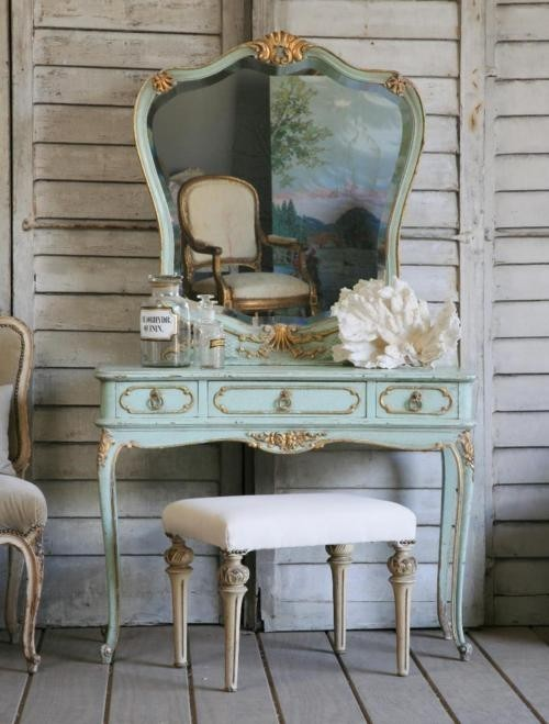 Blue decor mirror vanity table image 529870 on for Decor vanity