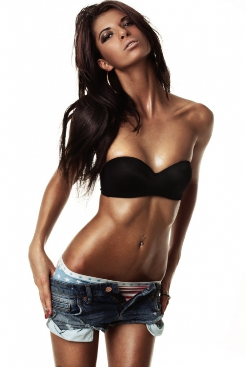 body, brunette, fitness, long hair