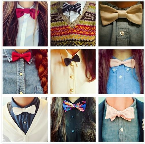 bow ties, classy, cute, fashion