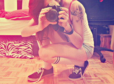 camera, fashion, photography, tattoo