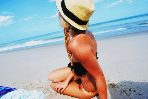 beach, beautiful, bikini, blonde, braid, caribbean, cute, fashion, hair, hat, hot, long hair, love, ocean, perfect, sand, sea, skinny, sky, style, summer, sun, sunshine, swag, tan, tanned, tanning, water, waves, white