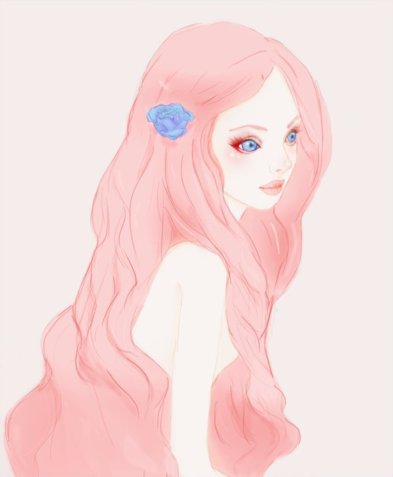 Image result for pink girl drawing tumblr