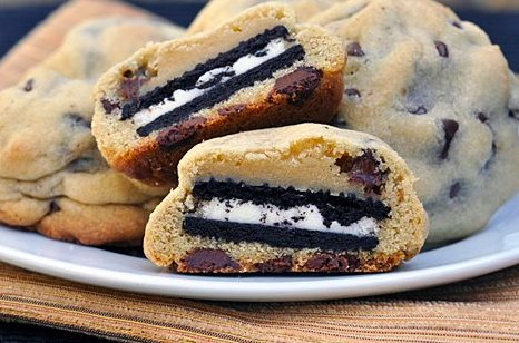 chocolate chip cookies, oreos