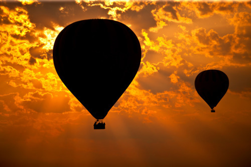 clouds, hot air balloon, photography, sky