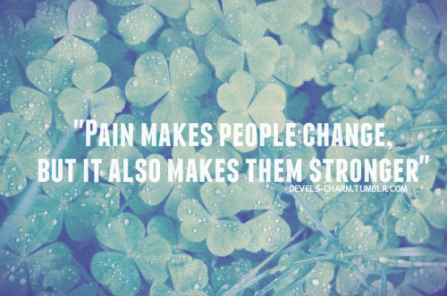clover, colorful, devels-charm, dew, green, pain, people, quote, strength, text, water, words