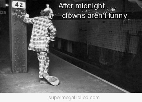 clown, funny, scary