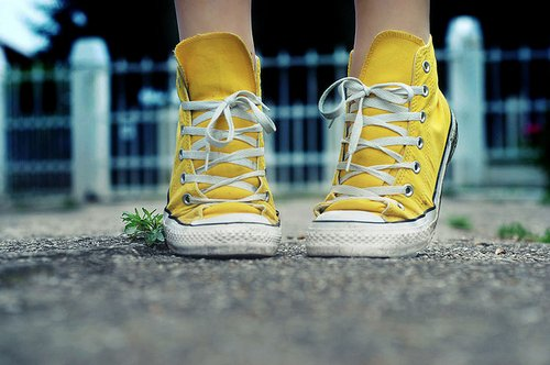 converse, shoes, yellow