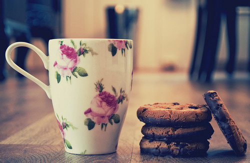 beautiful, cookie, cookies, cup, cute, flower, lovely, mug, photography, vintage
