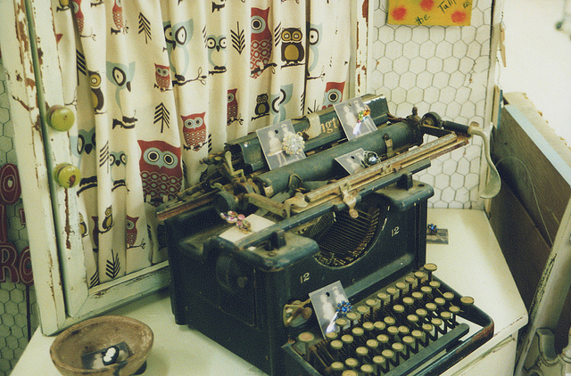 cool, indie, old and typewriter