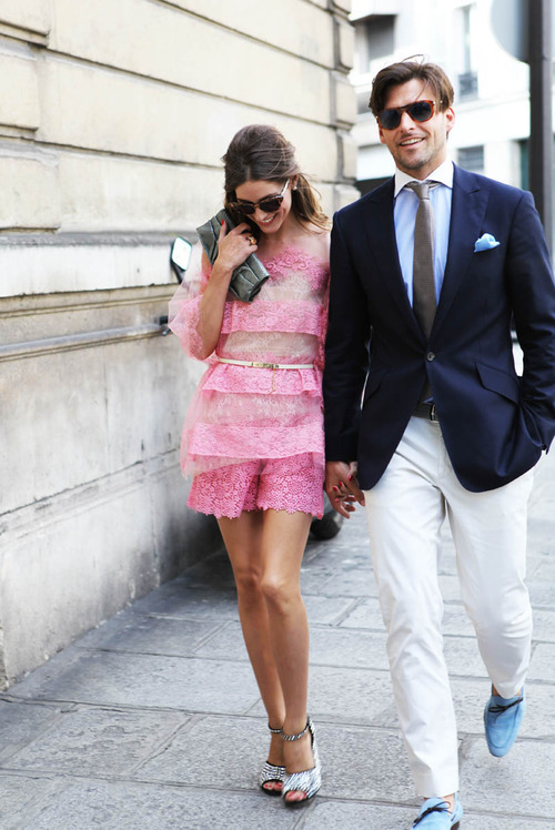 couple, couture week, fashion, love