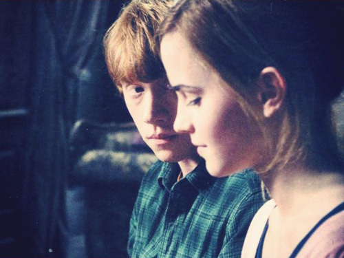 couple, harry potter, hermione granger, love, mione, photography, romione, ron weasley, ronald weasley, vintage