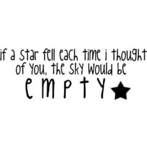 cute, each, empty, every, fall, fell, if, love, metaphor, quote, sky, star, text, think, thinking, thought, time, would, you