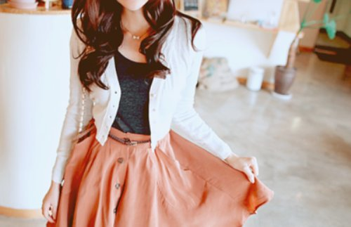 Cute fashion girl outfit photography style