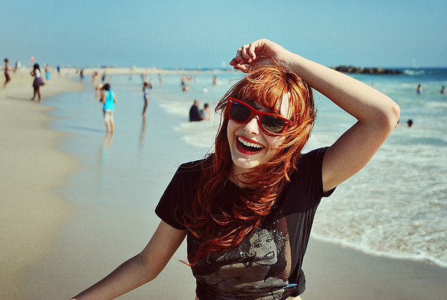 cute, ginger, girl, glasses