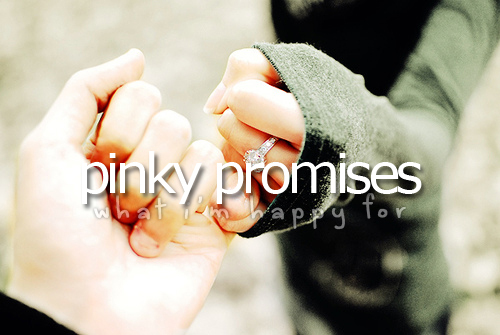 cute, happy for, pinky, pinky promises