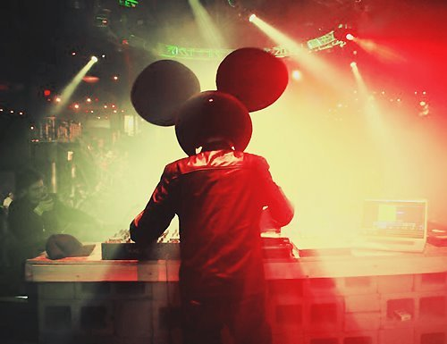 deadmau5, dj, mickey mouse, music, party