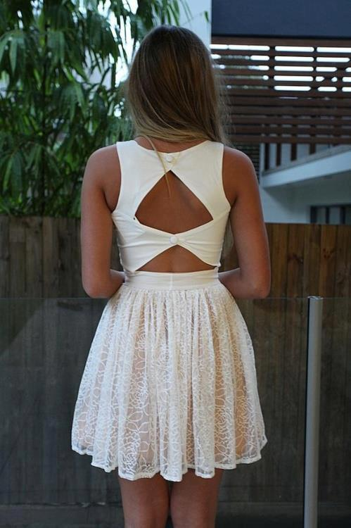 dress, fashion, girl, style, white