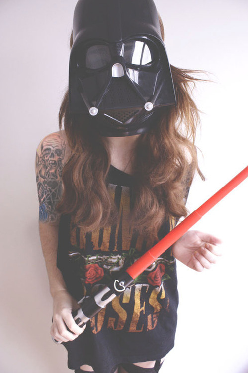 evil, girl, girls, guns & roses, lightsaber, photography, pretty, royal-ocean, star wars, swag, tatoo, tattoo, tomboy