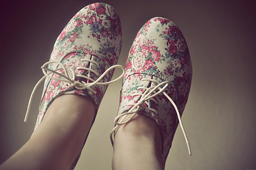 fashion, floral, photography, shoes, vintage