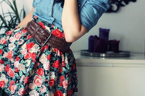 fashion, floral, photography, skirt